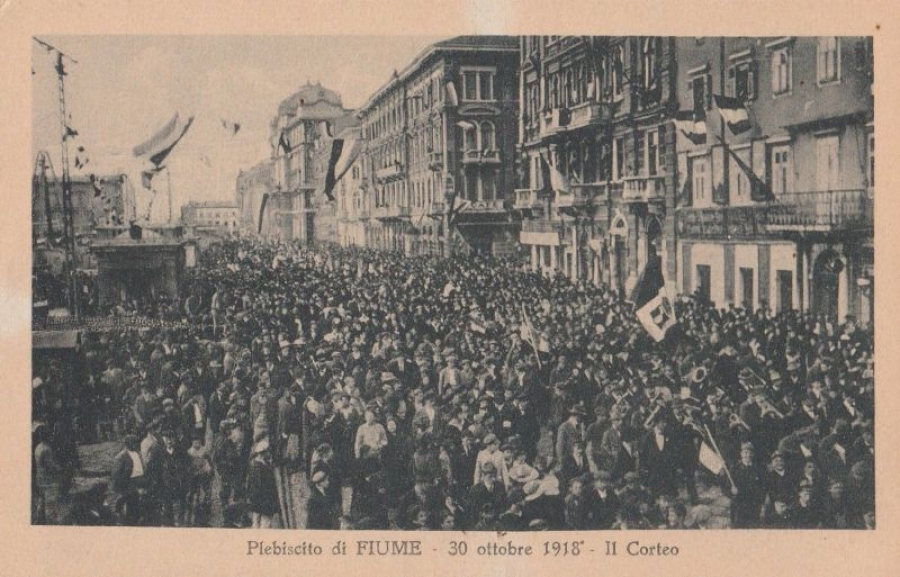 Public rally in Fiume 1919