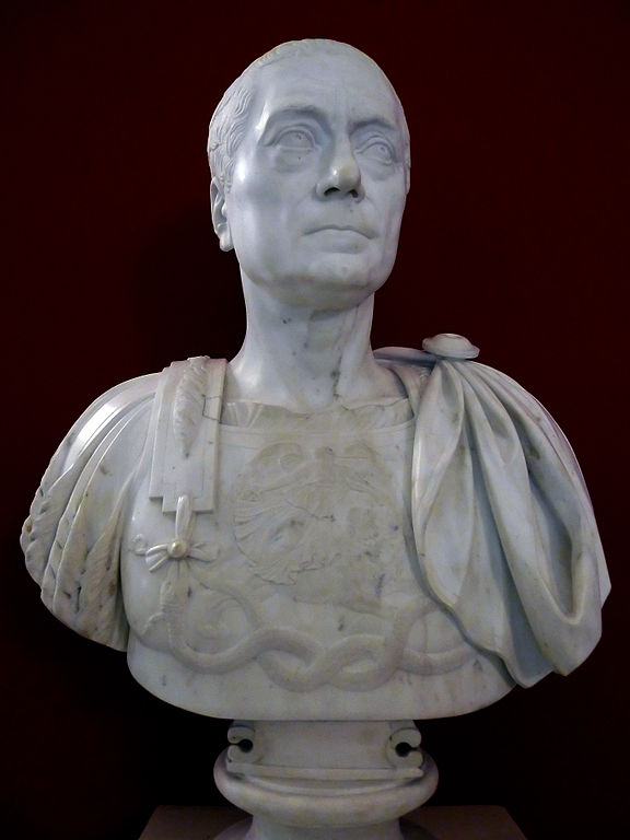 Coun Franz Moritz von aLacy marble bust HGM