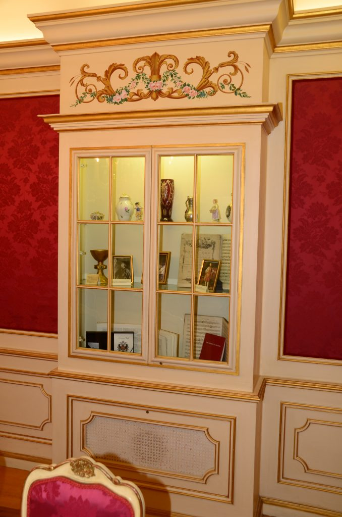 Cabinet/display case in Austrian Nationality Room