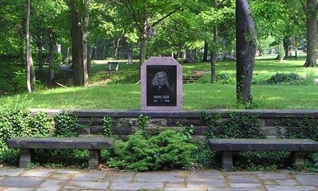 Franz Liszt dedication in Cleveland Cultural Gardens