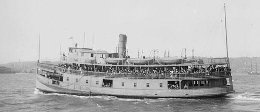 Ellis Island Ferry, circa 1915 - 1920