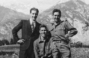 OSS Operation Greenup. 2017 Grant Recipient Peter Pirker's subject in Codename Brooklyn From left, Franz Weber, Hans Wynberg, Fred Mayer.