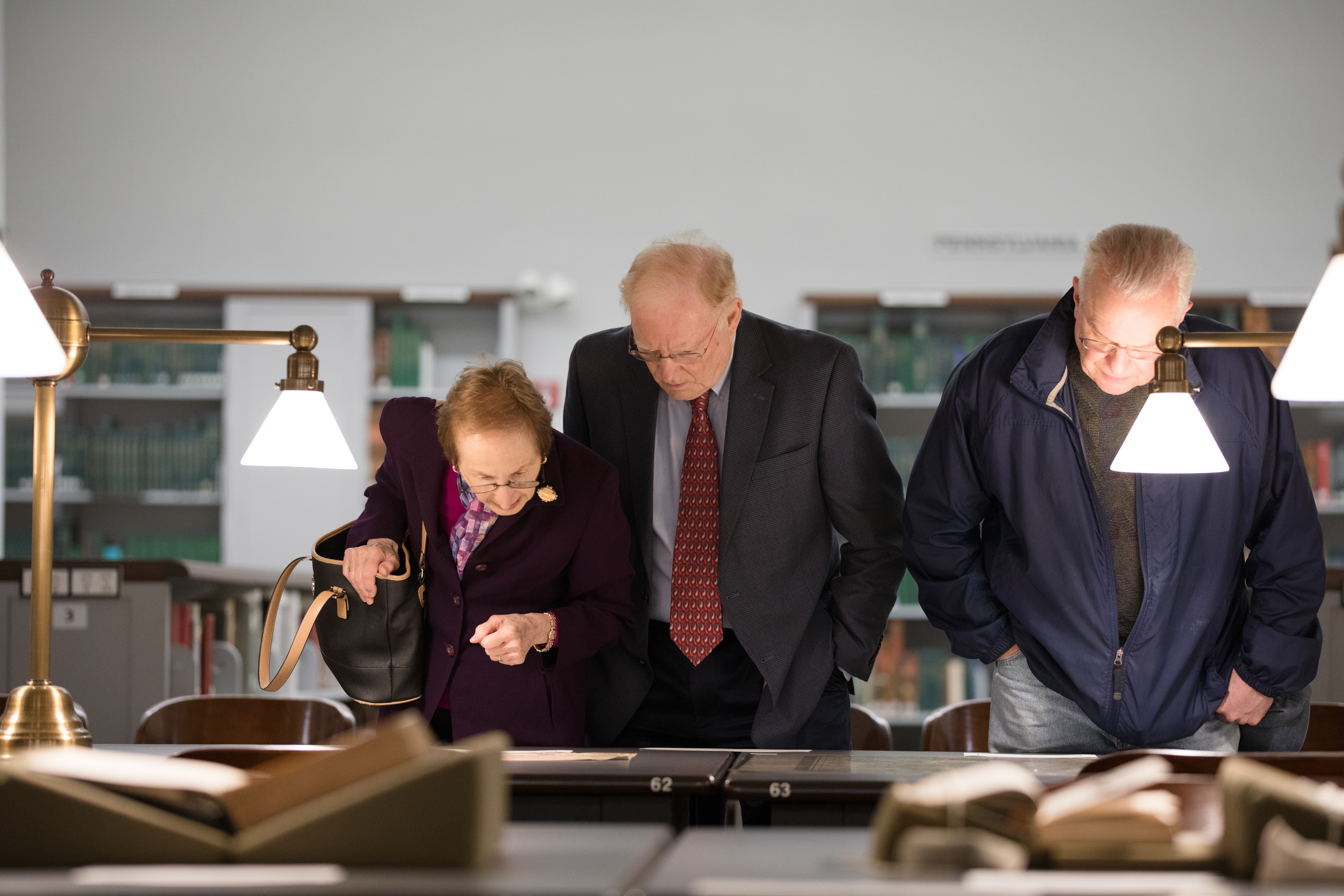 Guests browsing through Austrian-American documents