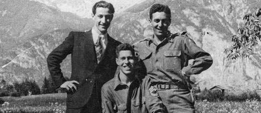 OSS Operation Greenup. 2017 Grant Recipient Peter Pirker's subject in Codename Brooklyn From left, Franz Weber, Hans Wynberg, Fred Mayer